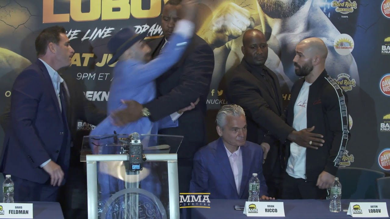 BKFC 6: Paulie Malignaggi Hits Artem Lobov With Microphone - MMA Fighting