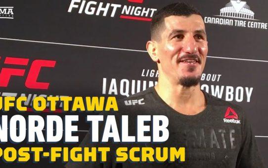 UFC Ottawa: Nordine Taleb Thinks He Saved UFC Job With Victory  – MMA Fighting
