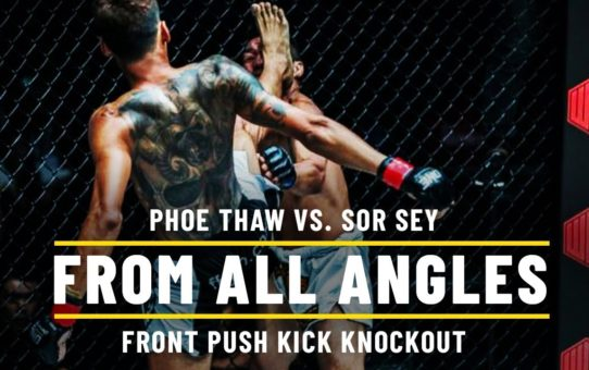 Phoe Thaw's Push Kick Knockout   ONE: From All Angles