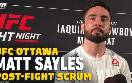 UFC Ottawa: Matt Sayles Gets Emotional Over Brother's Battle With Addiction – MMA Fighting