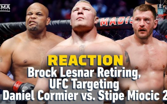 Brock Lesnar Retires, UFC Targets Daniel Cormier vs. Stipe Miocic 2 Reaction | The A-Side Live Chat