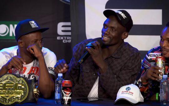 Themba Gorimbo and Conrad Seabi clash at EFC 79 Presser