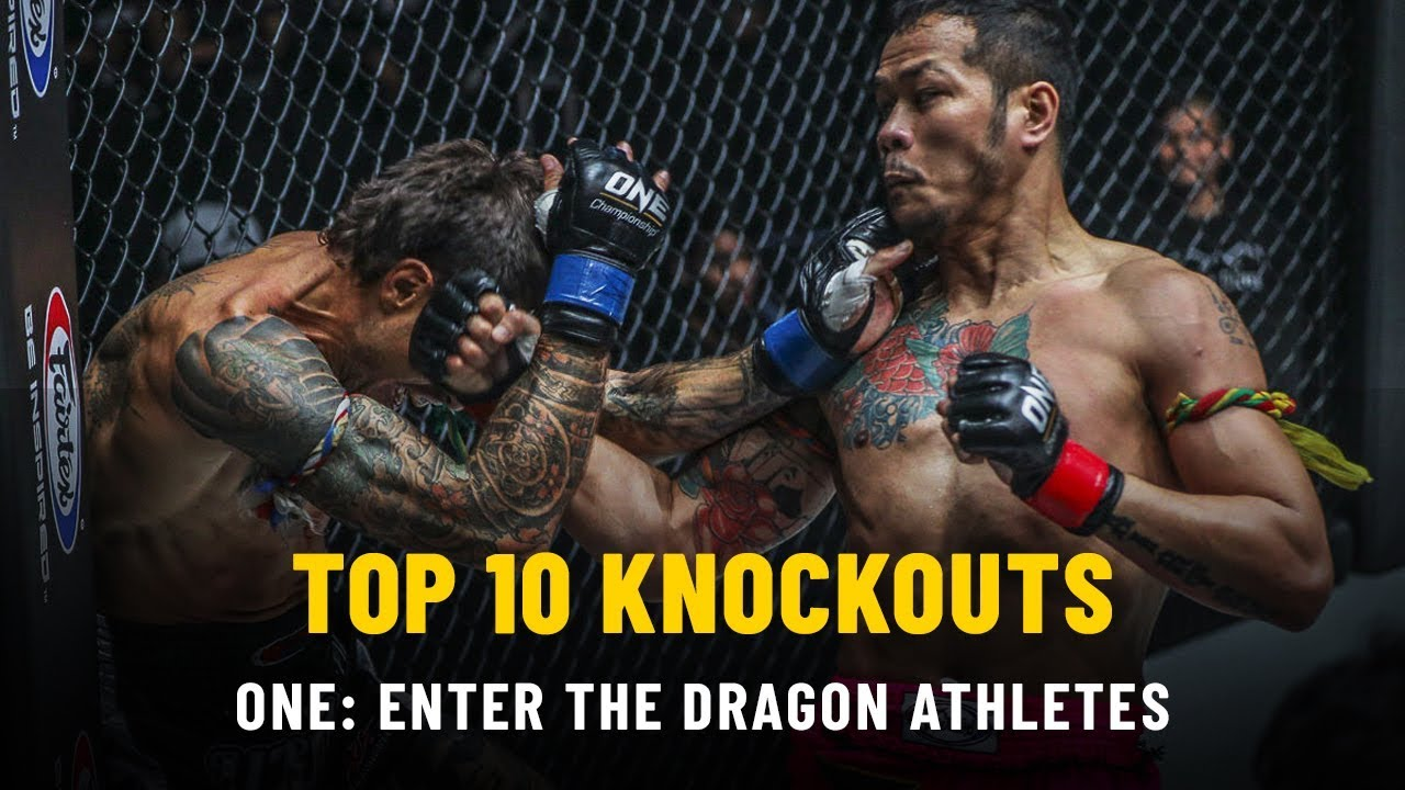 Top 10 KOs From ONE: ENTER THE DRAGON Athletes   ONE Highlights