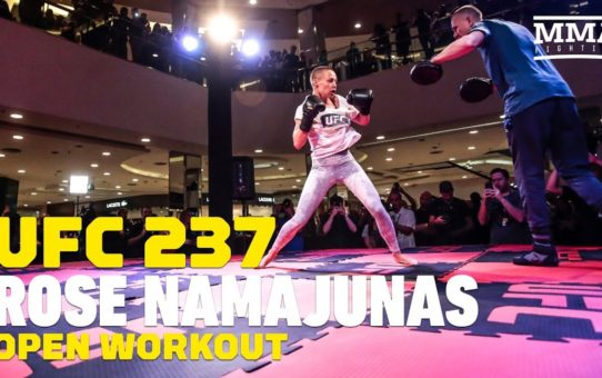 UFC 237: Rose Namajunas Open Workout (Complete) – MMA Fighting