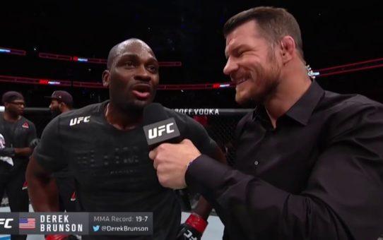 UFC Ottawa: Derek Brunson Octagon Interview