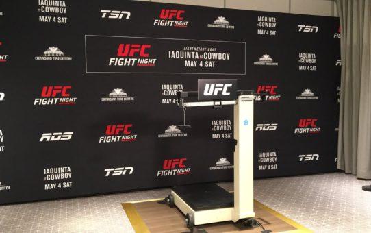 UFC Ottawa official weigh ins