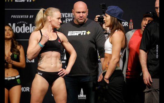 UFC 238: Valentina Shevchenko vs. Jessica Eye Weigh-In Staredown – MMA Fighting