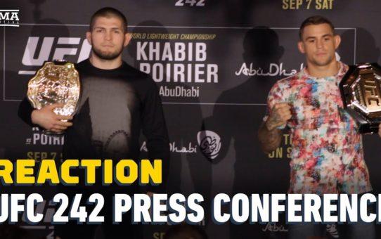 Khabib Nurmagomedov vs. Dustin Poirier UFC 242 Presser Reaction – MMA Fighting