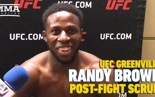 UFC Greenville: Randy Brown Opens Up About Losing Grandmother Just Five Days Before Fight
