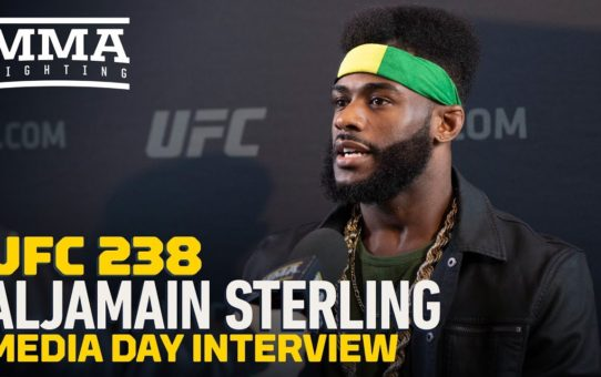 Aljamain Sterling Reacts To Pedro Munhoz Calling Him A 'B**ch' During UFC 238 Staredown