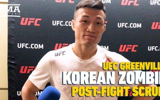 UFC Greenville: Korean Zombie Discusses 'Emotional' Win Over Renato Moicano, Wants Title Shot Next