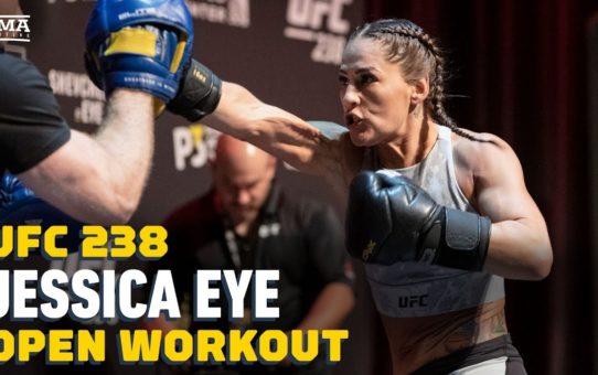 UFC 238: Jessica Eye Open Workout Highlights – MMA Fighting