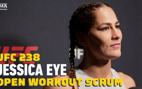UFC 238: Jessica Eye Open Workout Media Scrum – MMA Fighting