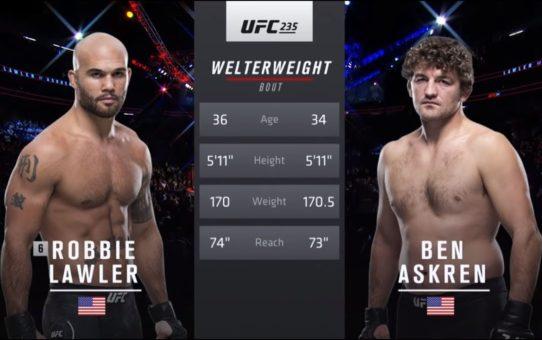 UFC 239: Ben Askren vs Robbie Lawler