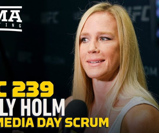 UFC 239: Holly Holm Los Angeles Media Day Scrum – MMA Fighting