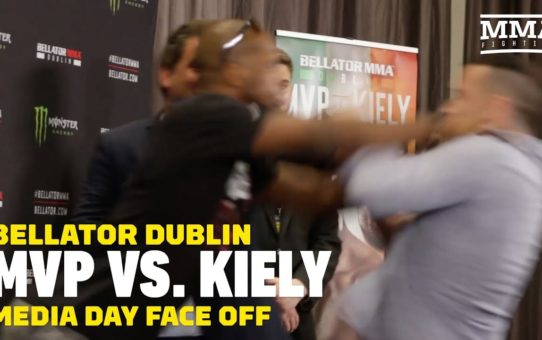 Bellator Dublin: MVP Shoves Richard Kiely in Staredown – MMA Fighting