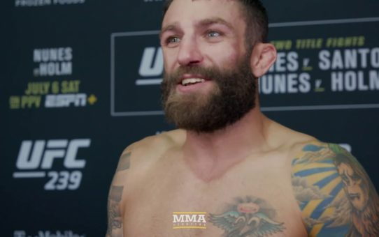 UFC 239: Michael Chiesa Felt Added Pressure Dealing With Diego Sanchez's 'Weird S*it'
