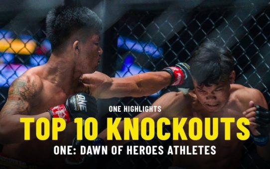Top 10 Knockouts From ONE: DAWN OF HEROES Athletes | ONE Highlights