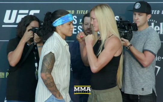 UFC 239: Amanda Nunes vs. Holly Holm Media Day Staredown – MMA Fighting