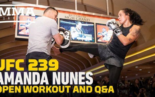 UFC 239: Amanda Nunes Workout Highlights – MMA Fighting