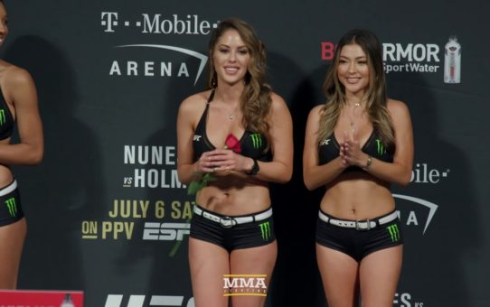 UFC 239: Brittney Palmer Gets Rose at Weigh-Ins – MMA Fighting