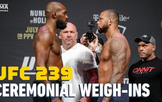 UFC 239 Ceremonial Weigh-In Highlights – MMA Fighting