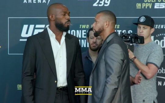 UFC 239: Jon Jones vs. Thiago Santos Media Day Staredown – MMA Fighting