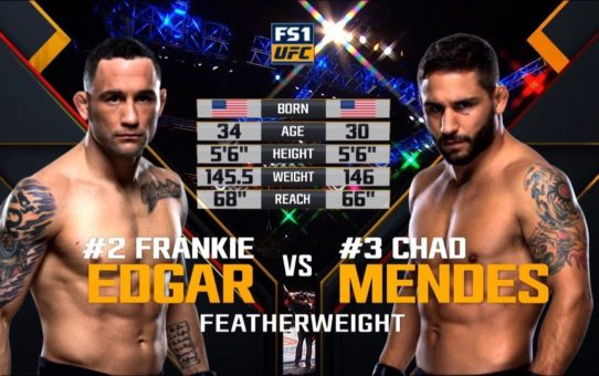 UFC 240 Free Fight: Frankie Edgar vs Chad Mendes
