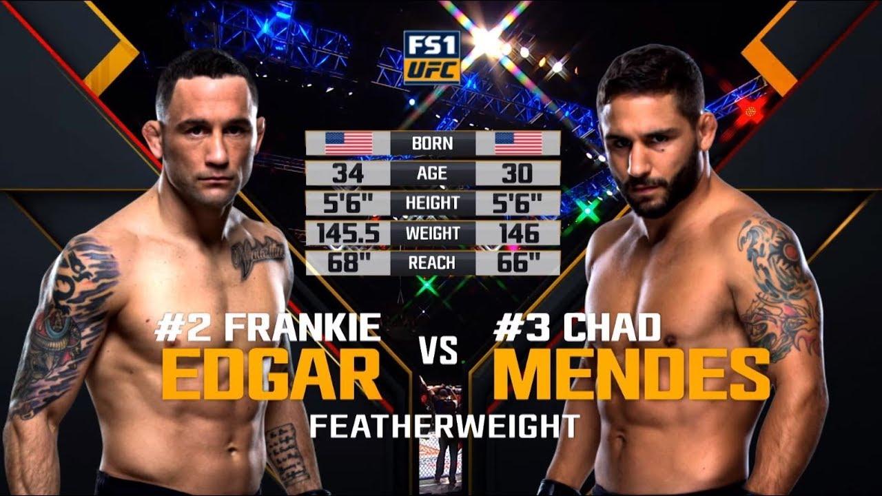 UFC 240 Free Fight: Frankie Edgar vs Chad Mendes