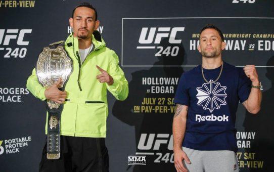 UFC 240 Media Day Staredowns – MMA Fighting