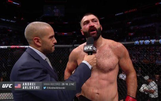 UFC San Antonio: Andrei Arlovski Octagon Interview