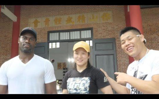 Weili Zhang Tours Foshan Chin Woo Athletic Association with Li Jingliang and Uriah Hall