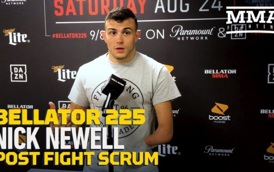 Bellator 225: Nick Newell Gives Emotional React To Winning Bellator Debut – MMA Fighting