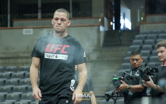 Nate Diaz Smokes Joint at UFC 241 Workouts – MMA Fighting