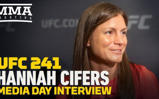 UFC 241: Hannah Cifers Says 'It Was Neat' Meeting Daniel Cormier And Anthony Pettis