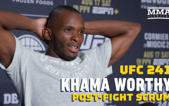 "UFC 241: Khama Worthy Doesn't Care About World Titles: ""I'm Here To Make Money"" – MMA Fighting"