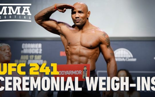 UFC 241 Ceremonial Weigh-In Highlights – MMA Fighting