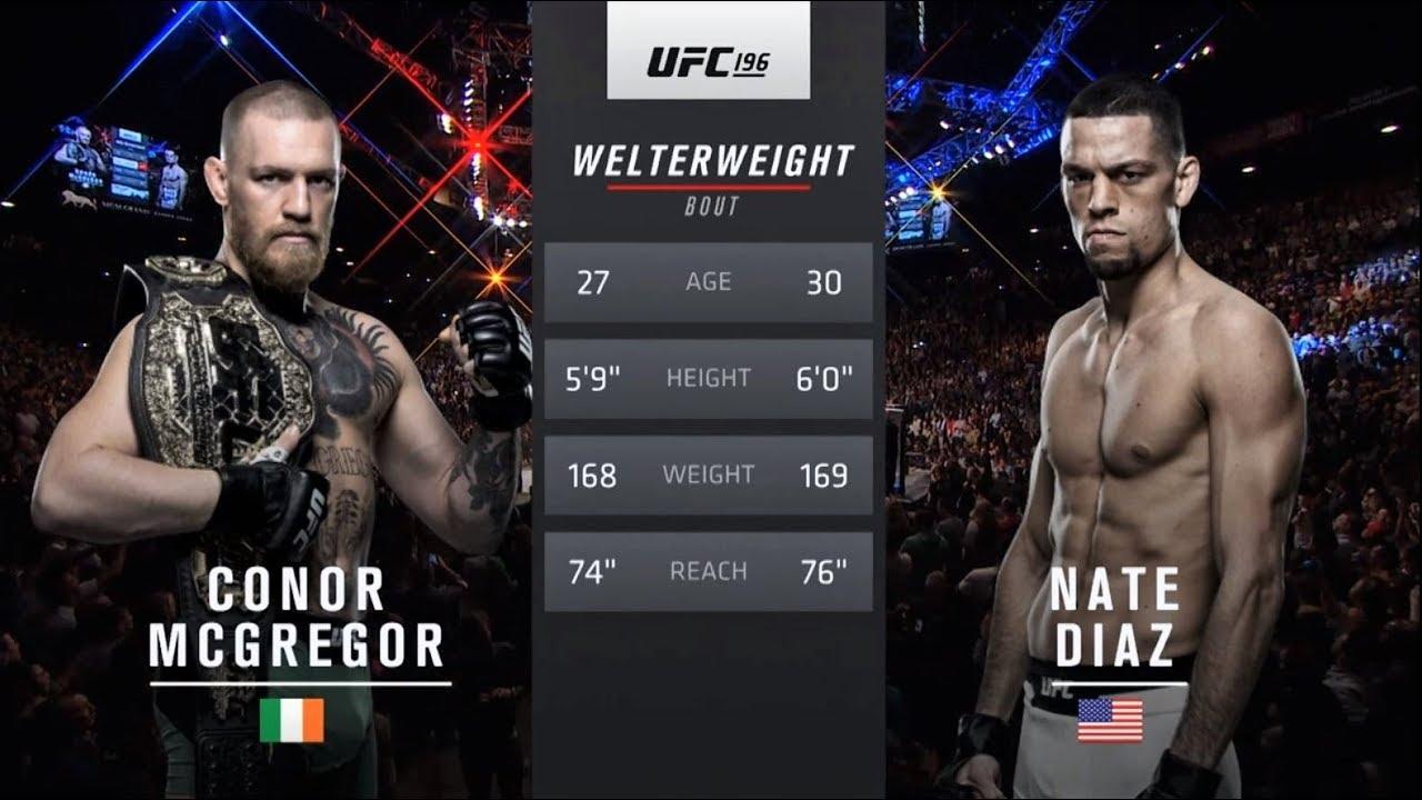 UFC 241 Free Fight: Nate Diaz vs Conor McGregor 1