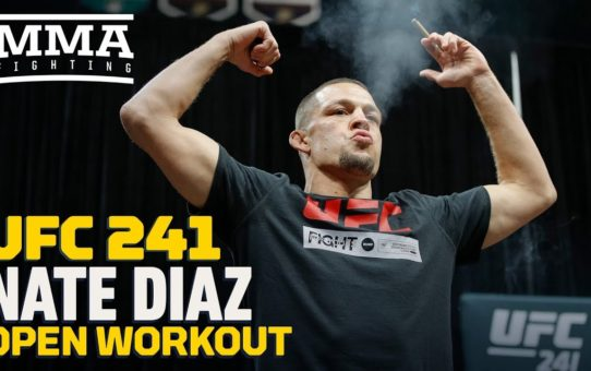 UFC 241: Nate Diaz Open Workout Highlights – MMA Fighting