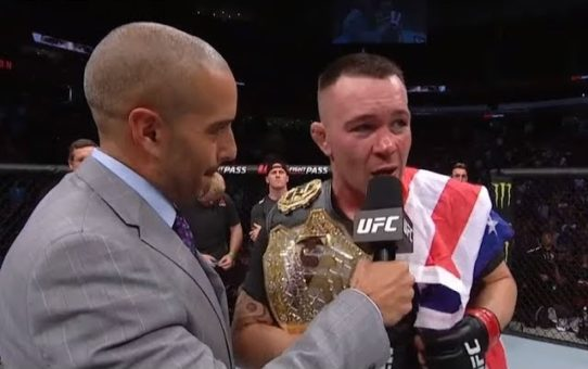 UFC Newark: Colby Covington and Robbie Lawler Octagon Interviews