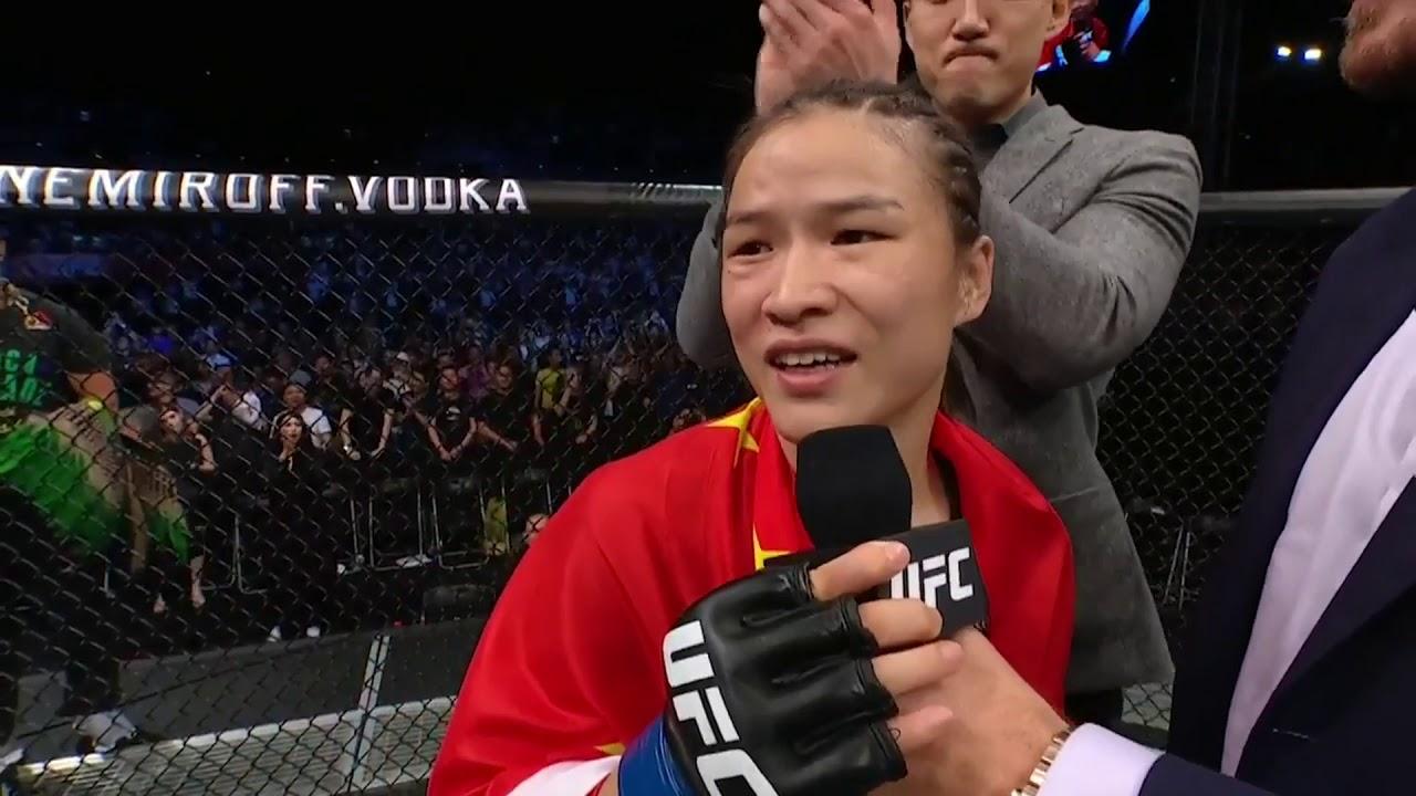 UFC Shenzhen: Weili Zhang and Jessica Andrade Octagon Interviews