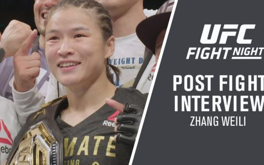 "UFC Shenzhen: Weili Zhang – ""I Knew I'd Be The First Chinese Champ"""