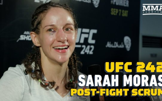 Sarah Moras Reacts To TKO Win Over Liana Jojua: 'I Enjoy Being Violent' – MMA Fighting
