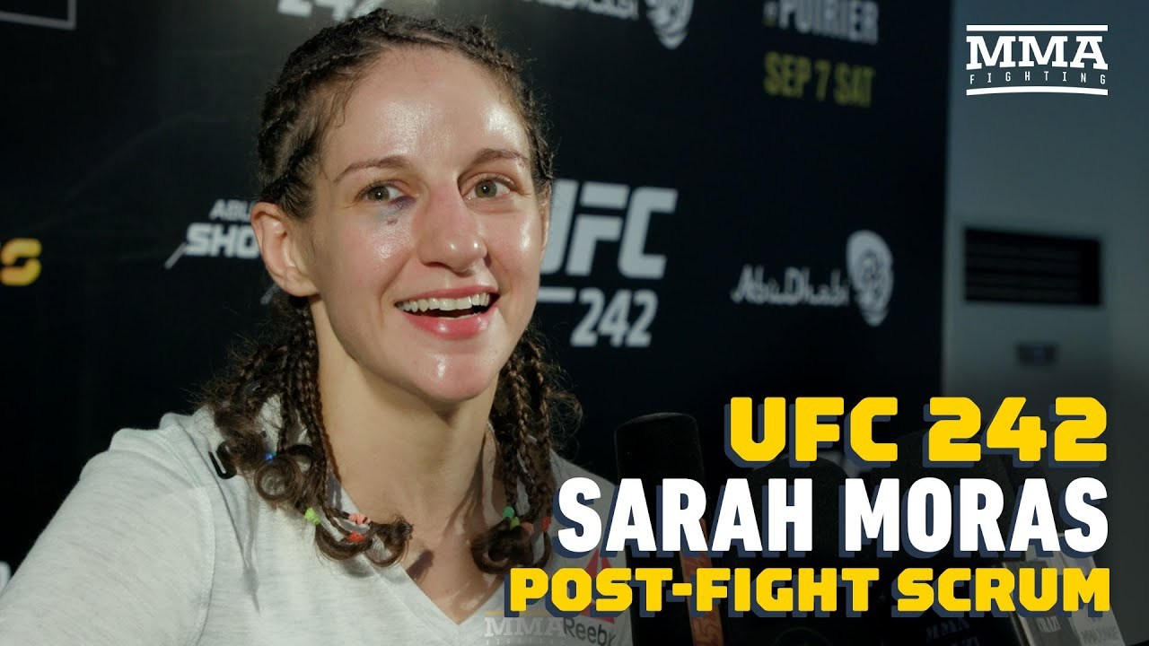 Sarah Moras Reacts To TKO Win Over Liana Jojua: 'I Enjoy Being Violent' - MMA Fighting