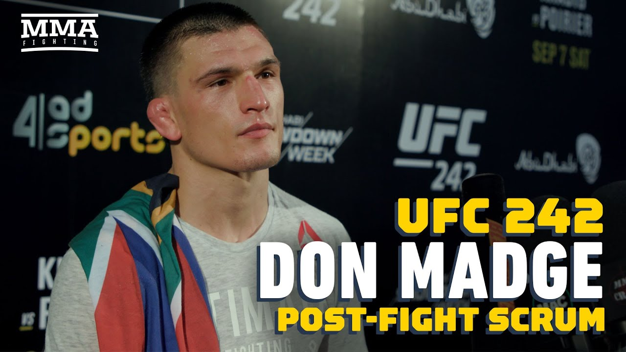 UFC 242: Don Madge Reveals He Couldn't 'Breathe Properly' Due To Heat In Arena - MMA Fighting