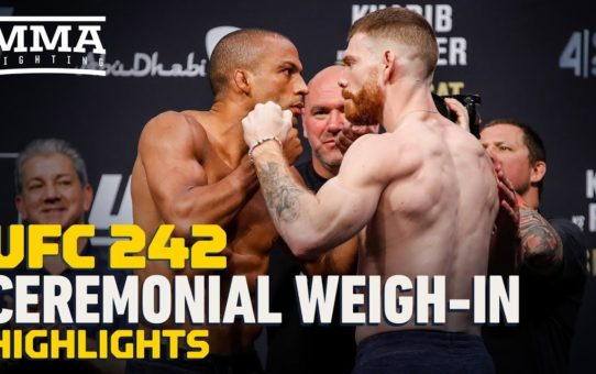 UFC 242 Ceremonial Weigh-In Highlights – MMA Fighting
