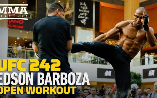 UFC 242: Edson Barboza Open Workout Highlights – MMA Fighting