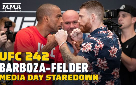 UFC 242: Edson Barboza vs. Paul Felder Media Day Staredown – MMA Fighting