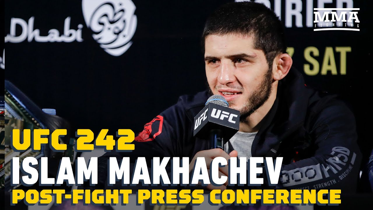 UFC 242: Islam Makhachev Post-Fight Press Conference - MMA Fighting