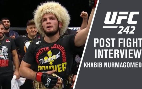 "UFC 242: Khabib Nurmagomedov – ""Next for Me is Coca-Cola with Steak"""